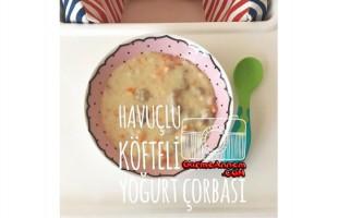 Havuçlu Köfteli Yoğurt Çorbası (8 ay+)
