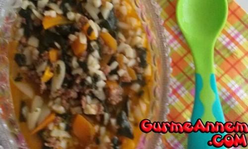 Arpalı Ispanak Yemeği ( +7 Ay)