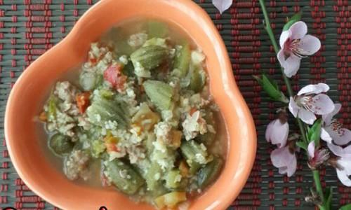 Bulgurlu Bamya Yemeği ( +8 Ay )