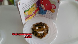 Ispanaklı Omlet ( +8 Ay )