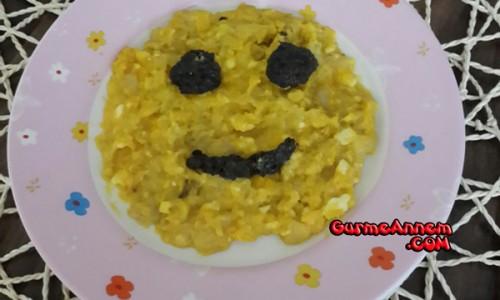 Patatesli Soğanlı Omlet ( +7 Ay )