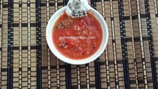 Kinoalı Kırmızı  Biber Çorbası (7 AY VE ÜZERİ )