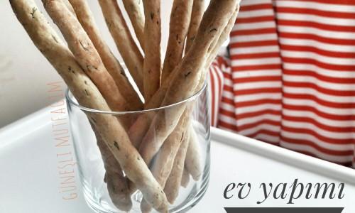 Ev yapımı çubuk kraker ( 8 ay ve üzeri )