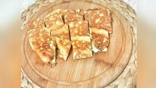 Maydonuzlu peynirli krep( 1 yaş ve üzeri)