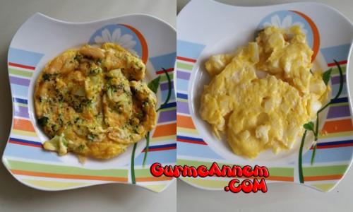Brokolili ve Karnabaharlı Omlet ( 1 yaş ve üzeri )