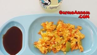 Havuçlu Biberli omlet ( 1 yaş ve üzeri )