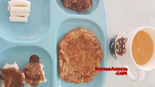 Labneli cevizli omlet (1 yaş ve üzeri )