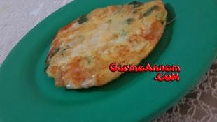 Ispanaklı Taze Soğanlı Omlet ( 1 yaş ve üzeri )