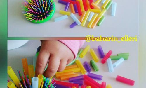 Tarak dişlerine  pipet  takma (18 ay ve üzeri )