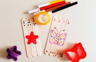 Abeslang çubuklarıyla puzzle (18 ay ve üzeri)