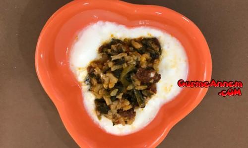 Yoğurtlu Ispanak Yemeği ( 8 ay ve üzeri )