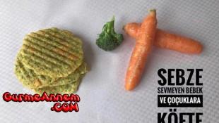 Brokolili Havuçlu Köfte ( 1 yaş ve üzeri )